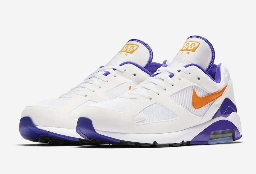 Brand New Mens Air Max 180 615287-101 White/Bright Ceramic Comfortable The most popular shoes for men and women