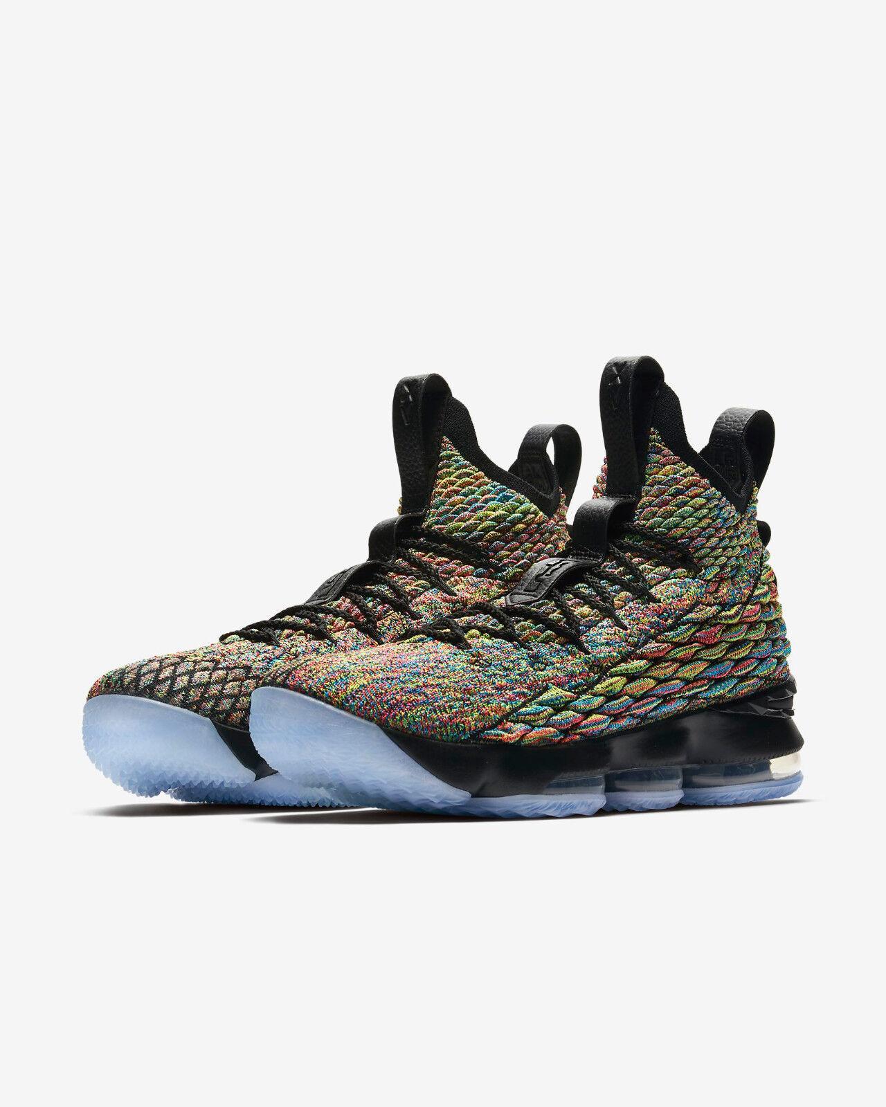 size 40 ed82a 8c60c Details about Nike LeBron James 15 XV Multi-color Black - Men s Size 10 -  Brand New w Box