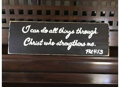 PHILIPPIANS 4:13 Do ALL THINGS Thru CHRIST Who Strengthens BIBLE Verses Plaques