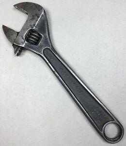 Vintage-PROTO-Tools-706-SL-Black-Oxide-CLIK-STOP-6-034-Adjustable-Crescent-Wrench