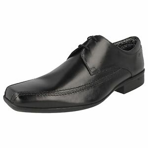 G Clarks Zapatos Cuero ' De Hombre Cordones Día' Aze Negros Tela Oferta Ajuste qOy7dq