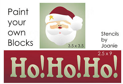 Joanie Stencil Chunky Block SANTA Snowflake Stars Holiday Christmas Prim Signs