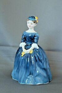 Vintage-Royal-Doulton-Figurine-HN-2341-Cherie-1965-My-Fair-Lady-Navy-Blue-Dress