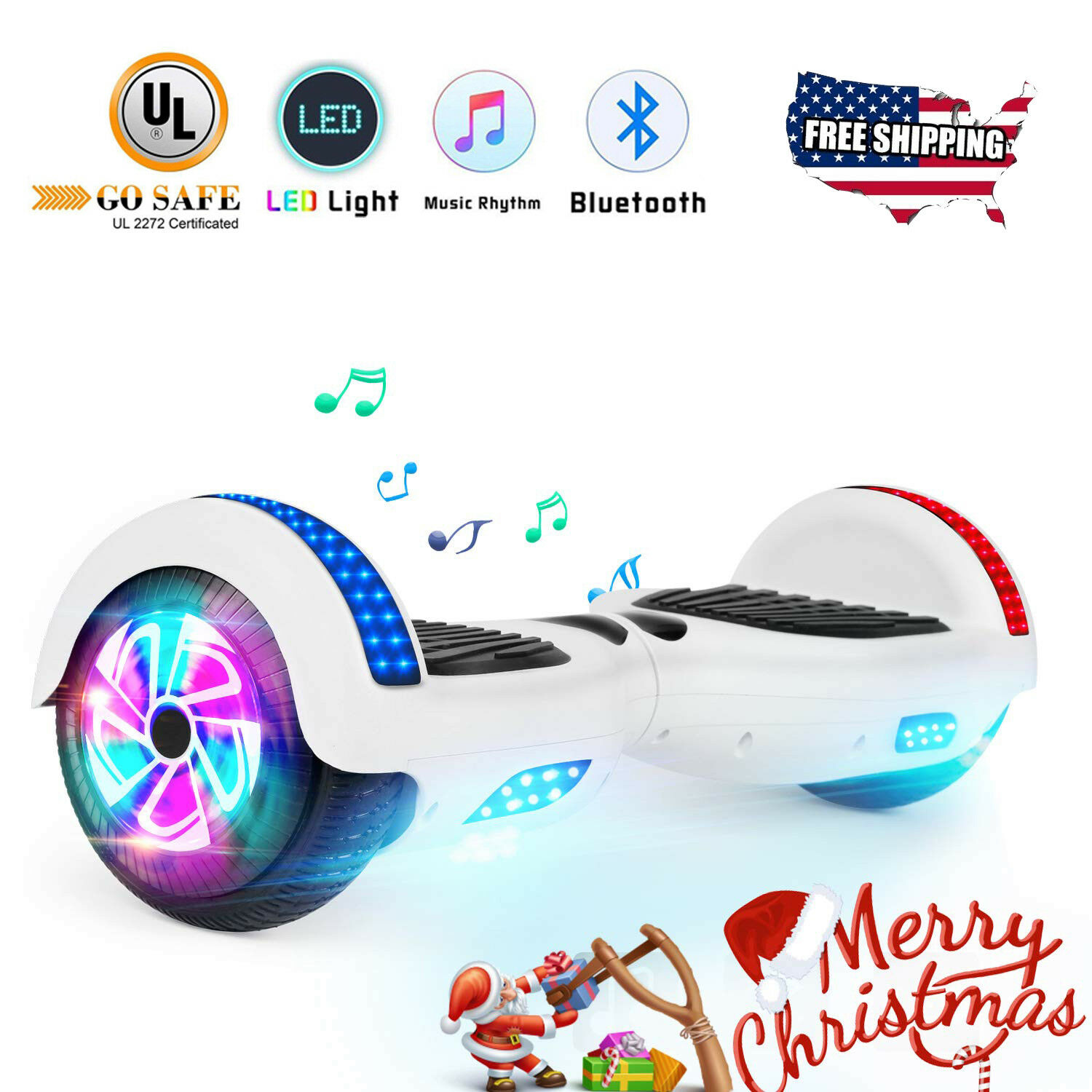 6.5  blueetooth Hoverboard for Girls 2 Wheel Electric Self Balance Scooter Led