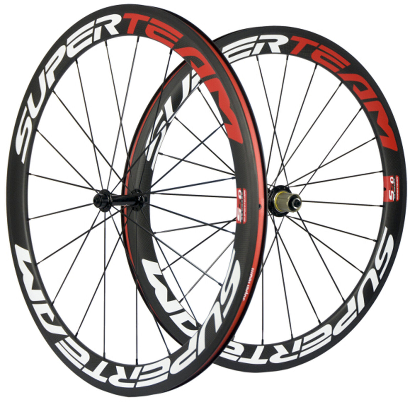 Superteam 700C 50mm Ultra Light  Carbon Wheels Clincher Carbon Road Bike Wheelset  the most fashionable