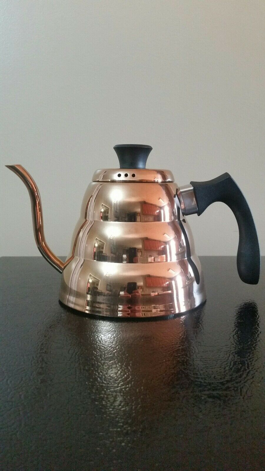 Old Dutch DuraCopper  Precise Coffee & Tea Pour-Over Kettle, 1.05 Qt.  1.0 L.