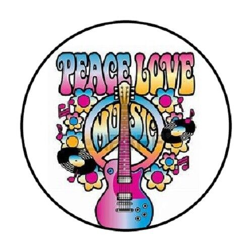 "48 Peace Love Music ! ENVELOPE SEALS LABELS STICKERS 1.2/"" ROUND"