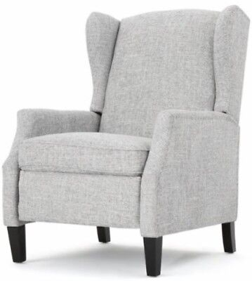 Gray Wingback Accent Club Recliner Grey Chairs Armchair Recliners