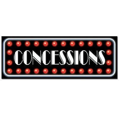 Concessions Sign  - Hollywood Awards Party - VIP  Decorations