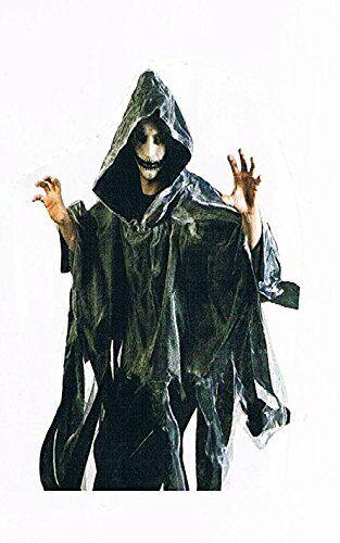 Cape Umhang-Kostüm-Halloween-für-Erwachsene-Maske-Zombi-Leiche-Kürbis-Gruseln g