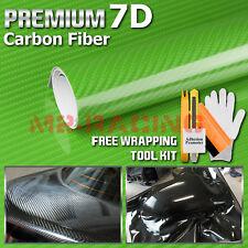 Premium 7d Green Gloss Carbon Fiber Vinyl Wrap Bubble Free Air Release Film