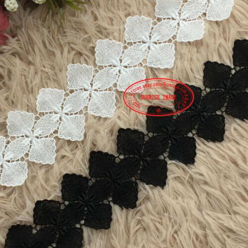 1 Yard,Polyester Sewing Trimming Bridal Dress White Lace Trim Applique DIY FL278