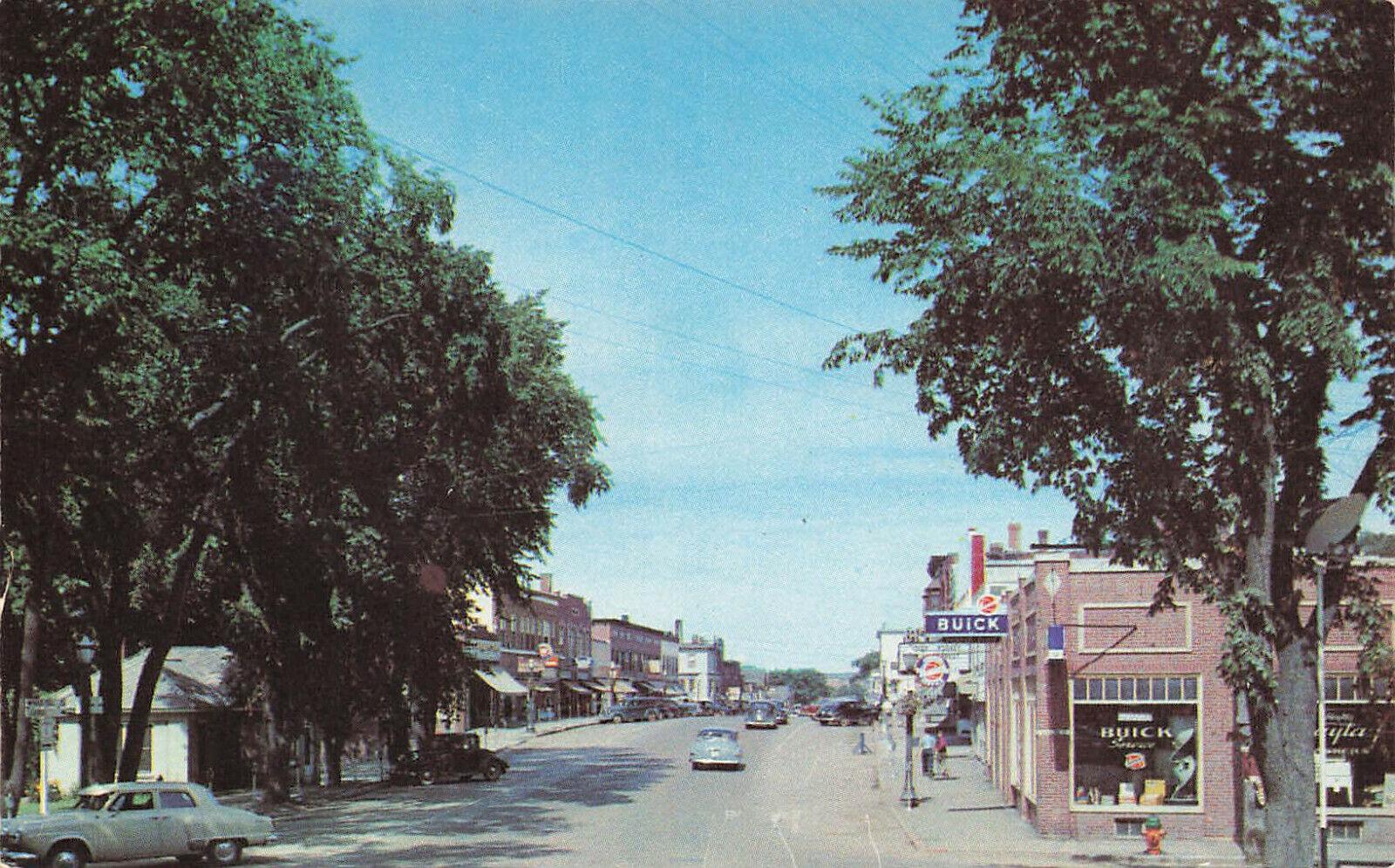 Image 1 - Presque Isle ME Buick Dealership Postcard