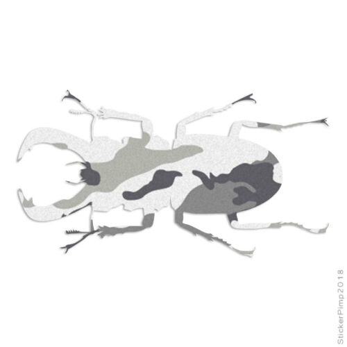 Size #2890 Stag Rhino Beetle Decal Sticker Choose Pattern