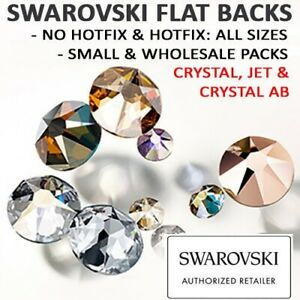 Genuine-Swarovski-Flat-Back-Crystals-HOTFIX-amp-NO-HOTFIX-Crystal-amp-AB-All-Sizes