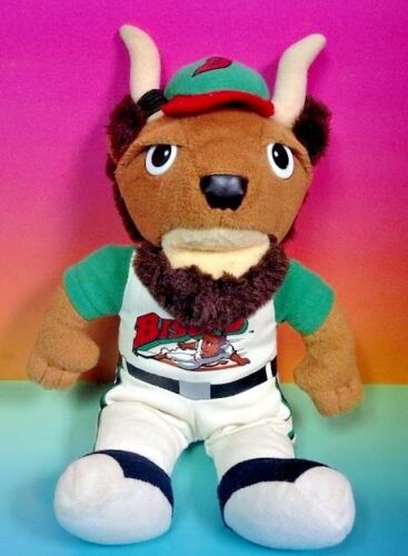 Buffalo Bison Baseball Buster T Bison Plush Stuffed Toy Super Rare! Bisons AAA