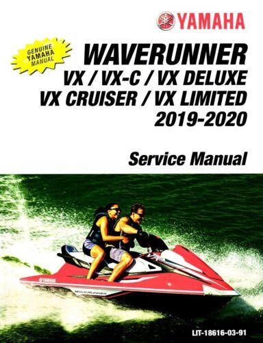 Deluxe Cruiser VXC Yamaha Waverunner 2019 2020 VX Limited service manual
