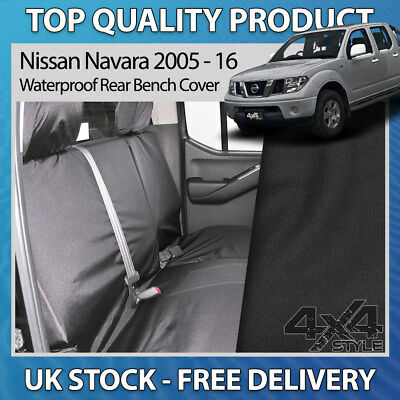 Tailored Waterprooof Rear Bench Black Seat Cover Fits Nissan Navara NP300 2016+