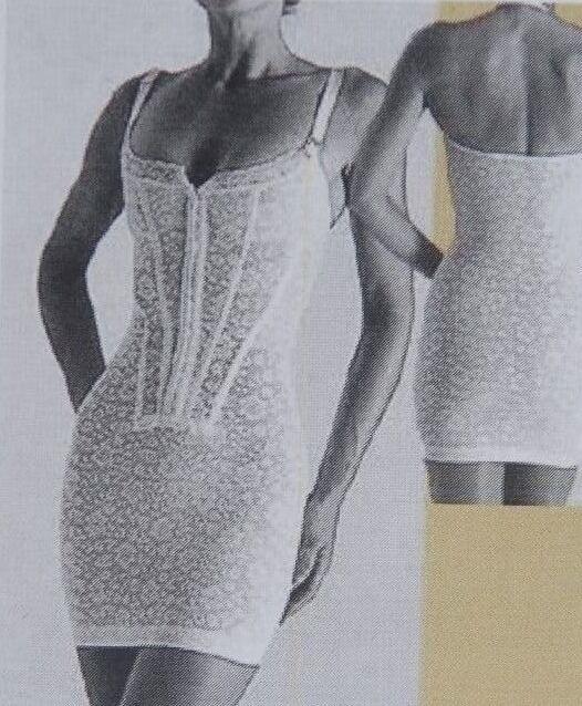 CROWN Foundations Victorian Full Torso White Corset Slip Plus Size 1X