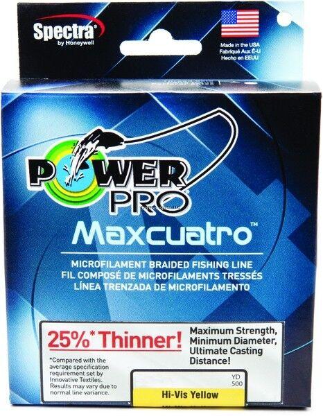 NEW Power Pro Maxcuatro 100Lb 500yd giallo 33401000500Y