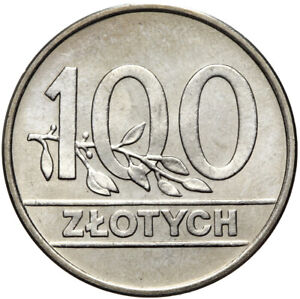 Polen-Poland-Muenze-100-Zlotych-1990-Stempelglanz-UNC