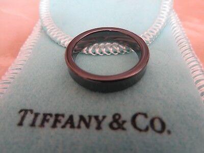 fc812f1fb New Tiffany & Co. Titanium 1837 Narrow Band Ring. Size 6 | eBay