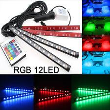 RGB Color Bar Glow Dash Footwell Interior Light 12 LED Strip Lamp SMD  For Honda