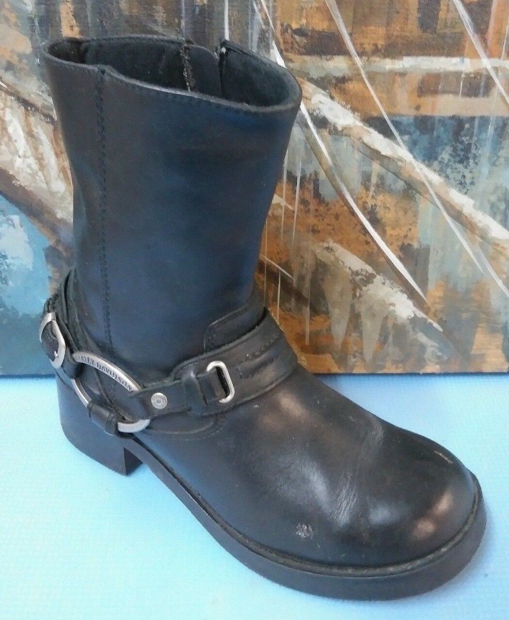 Harley-Davidson Womens Christa Black Low Cut Boot 85298 Size 7