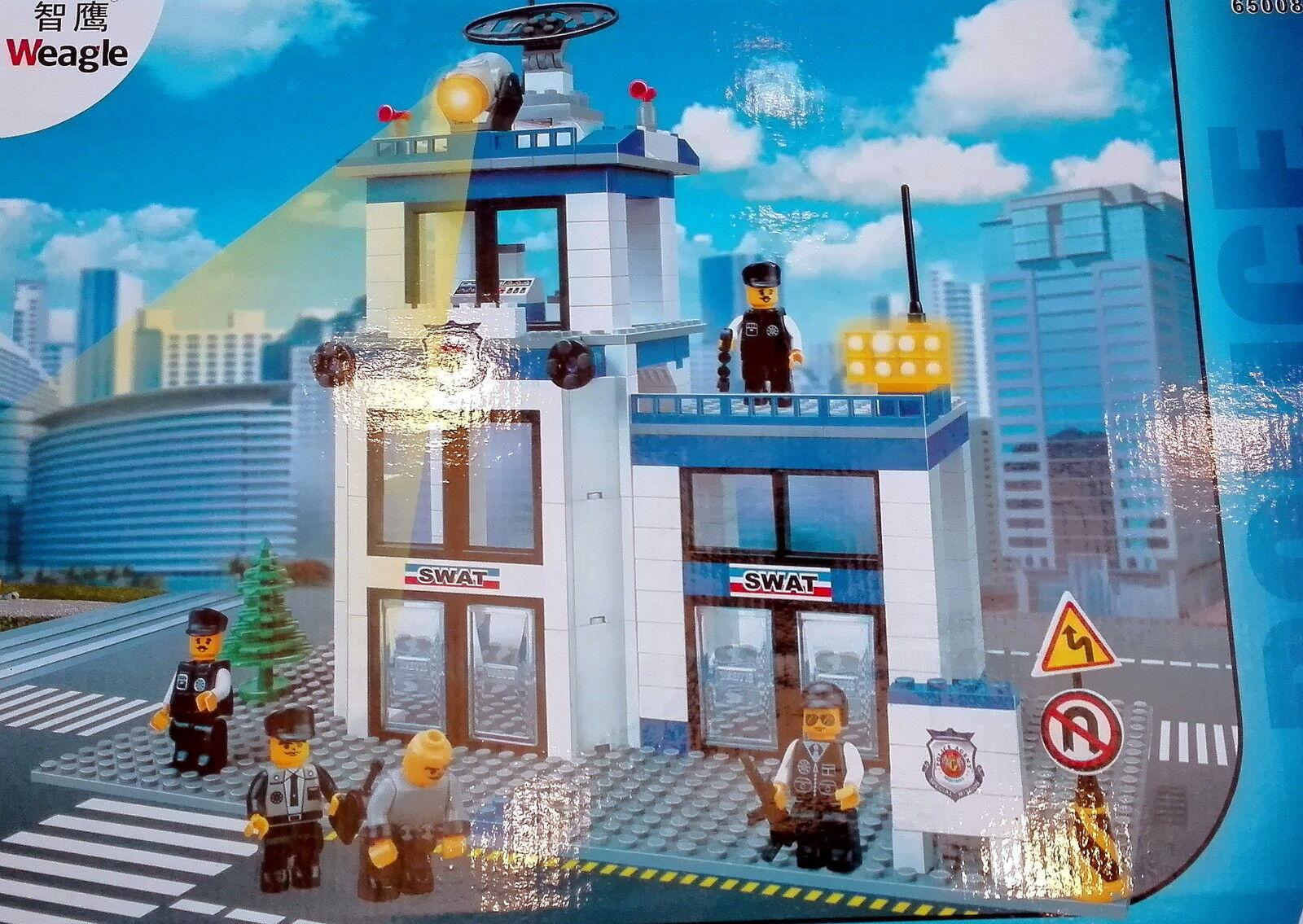 Bausteine, konstruktionsbausteine, polizeistation XXL ca 870 bauteile