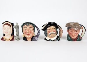 4-Royal-Doulton-Toby-Mug-Catherine-Aragon-Fortune-Teller-Sancho-Panca-Poacher