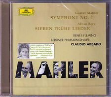 Claudio ABBADO: MAHLER Symphony No.4 BERG Lieder RENEE FLEMING CD Berliner Phil