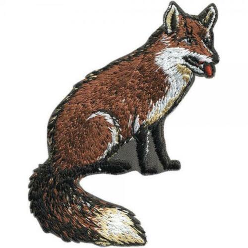 Aufnäher ca Fuchs 5 x 7,5 cm 04034 Gr Patches Stick Applikation