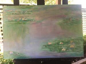 Stephen-Tandori-Waterlillies-Painting