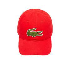 e7db5f6cf Lacoste Men's Cotton Hat Cap Large Crocodile Color Red Model Rk2642 ...