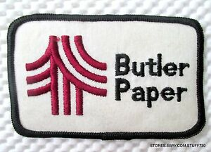 BUTLER-PAPER-EMBROIDERED-SEW-ON-PATCH-LOGO-UNIFORM-ADVERTISING-4-034-x-2-1-2-034