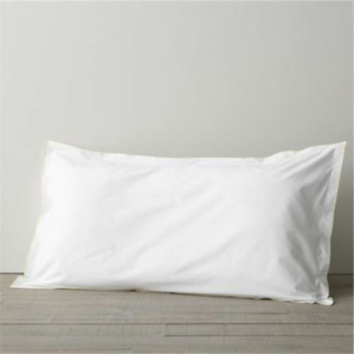 Crate & and Barrel BELO YELLOW KING FLANGE PILLOW Shams x 2- NWOT