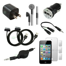 10 pcs Bundle Kit Black 2x USB Cable+Wall Charger for Apple iPod Touch 4 4th Gen