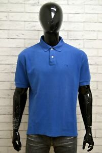 Polo-Maglia-Blu-Uomo-FILA-Taglia-Size-XL-Maglietta-Shirt-Man-Manica-Corta-Cotone