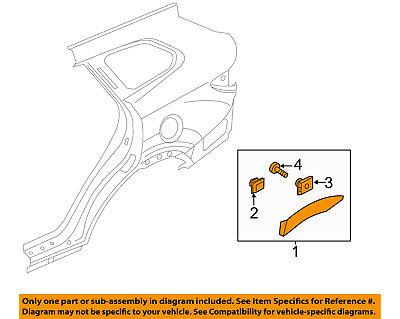 Left Genuine Hyundai 87741-B8000-CA Quarter Garnish Assembly