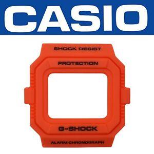 Details about Genuine CASIO G SHOCK Watch Band Bezel Shell DWD5500MR 4 Orange Cover