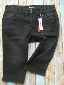 Sheego-Jeans-Trousers-short-Black-Ladies-Size-48-58-plus-Size-692