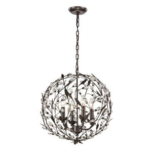 Details About Elk Lighting 18134 4 Circeo Light 19 Inch Deep Rust Pendant Ceiling Nib