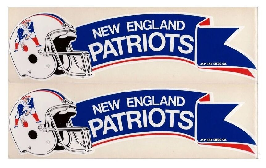 Lot of Vintage 1980s NFL New England Patriots Old Throwback Logo BUMPER STICKER