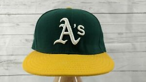 Oakland Athletics A/'s Hunter Orange Navy Blue Yellow New Era 59Fifty Fitted Hat