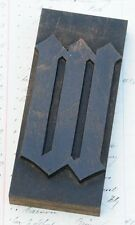 Letter W Rare Blackletter Wood Type 571 Woodtype Letterpress Printing Block