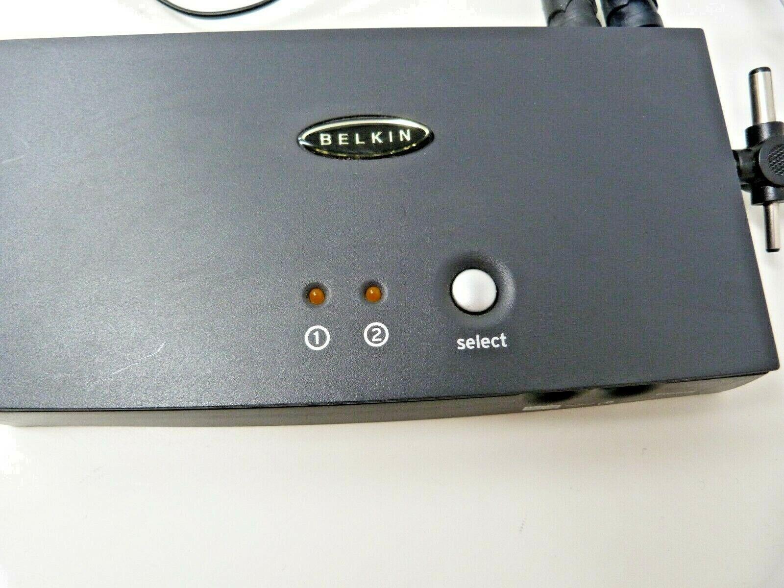 Belkin F1DB102P OmniView E Series 2-Port KVM Switch with leads