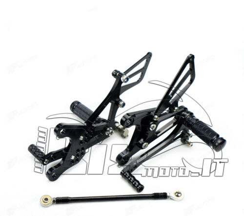 FLOORBOARDS REAR SET ADJUSTABLE Kawasaki Ninja ZX6R ZX636 05 06 07 08 ERGAL