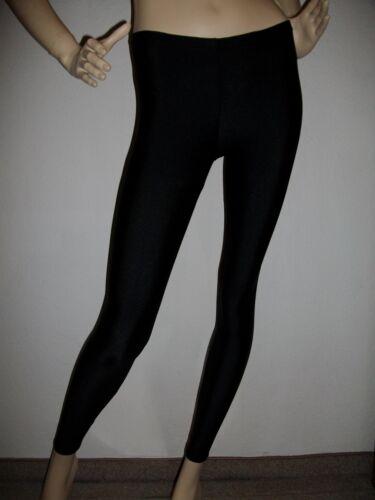 Leggings leggings luccicanti voltigierhosen Bambini Nero dimensioni 116-176