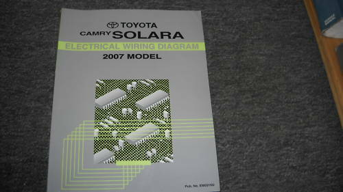 2007 Toyota Camry Solara Electrical Wiring Diagram Service