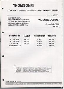 Service-MANUAL-chassis-r5000-MONO-quadro-immagini-e-note-di-servizio-167-pagine